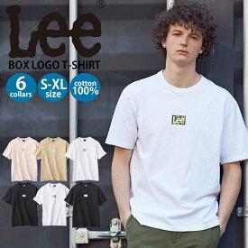 Lee ボックスロゴTシャツ メンズRight-on,ライトオン,LT2625,リー,Lee,ミニロゴ 半袖 春夏 S M L XL