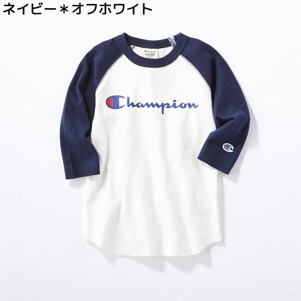(チャンピオン)Champion ラグラン7分袖Tシャツ キッズRight-on,ライトオン,FCS4847-EC,Champion,チャンピオン,