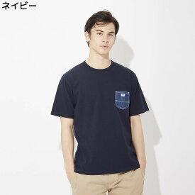 (リー)Lee デニムポケット付きTシャツ メンズRight-on,ライトオン,LT2620,リー,Lee,半袖 春夏 無地 ボーダー S M L XL