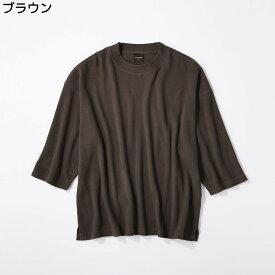 RAG MACHINE ビッグシルエットワッフル7分Tシャツ メンズRight-on,ライトオン,RM-4114009,ラグマシーン,RAG MACHINE,