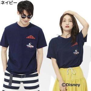 DISNEY サーフポケットプリントTシャツ(ミッキー...