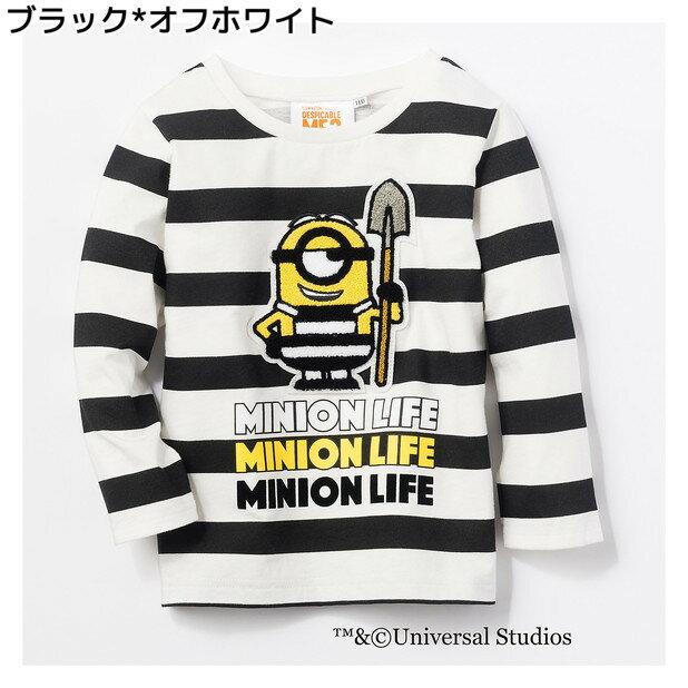 (ミニオン)MINION サガラボーダーロングスリーブTシャツ キッズRight-on,ライトオン,11716752,ミニオンズ,MINION,ミニオン