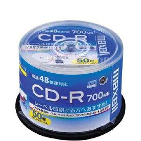 CD-R データ用 50枚スピンドルケース入り 700MB 48倍速対応 CDR700S.WP.50SP maxell マクセル
