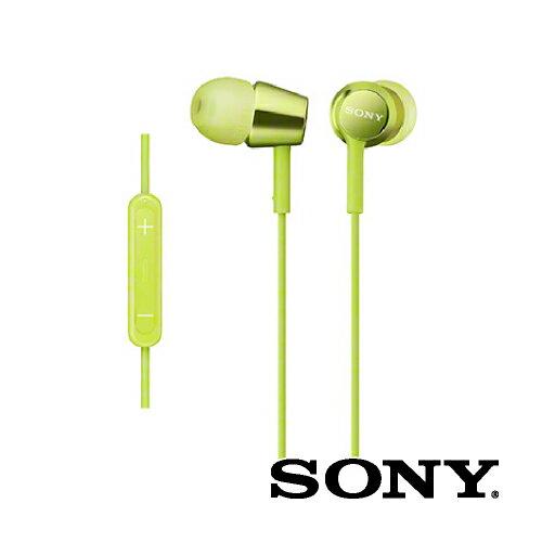 SONY ソニー / iPod iPhone iPad 対応 / 密閉型インナーイヤーレシーバー / ライムグリーン[MDR-EX150IP G]