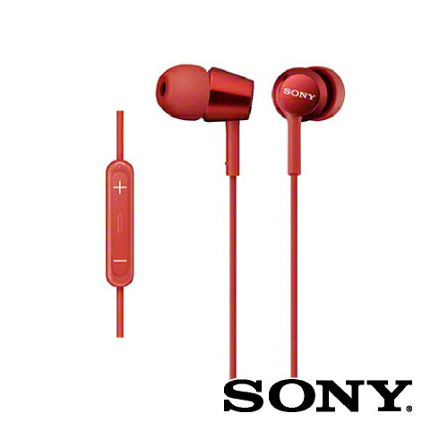 SONY ソニー / iPod iPhone iPad 対応 / 密閉型インナーイヤーレシーバー / レッド[MDR-EX150IP R]