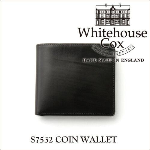【正規品】ホワイトハウスコックス コインケース付き2つ折り財布 S7532ブライドルレザー/ブラック【Whitehouse Cox/ホワイトハウスコックス】【あす楽対応_関東】