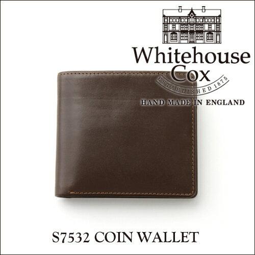 【正規品】ホワイトハウスコックス コインケース付き2つ折り財布 S7532ブライドルレザー/HAVANA ハバナ(ダークブラウン)【Whitehouse Cox/ホワイトハウスコックス】【あす楽対応_関東】