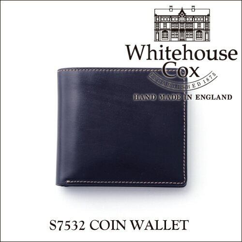 【正規品】ホワイトハウスコックス コインケース付き2つ折り財布 S7532ブライドルレザー/ネイビー【Whitehouse Cox/ホワイトハウスコックス】【あす楽対応_関東】