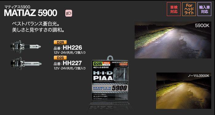 エアウェイブ【GJ1・GJ2】【05.04〜】純正HIDバルブ【D2R】装着車PIAA【D2R】マティアス5900【5900K】