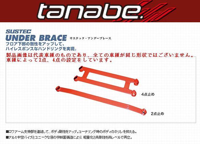 セレナ(GC27)(16/8〜)下記詳細要確認Tanabe(サスティクアンダーブレース)フロントとリアSET品