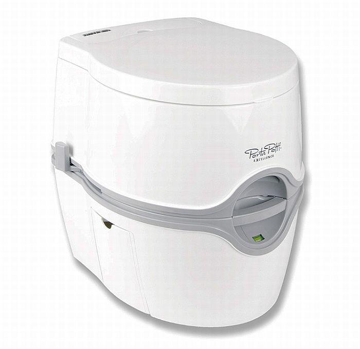 ポータブルトイレ/PPエクセレンス・ホワイト・手動モデル