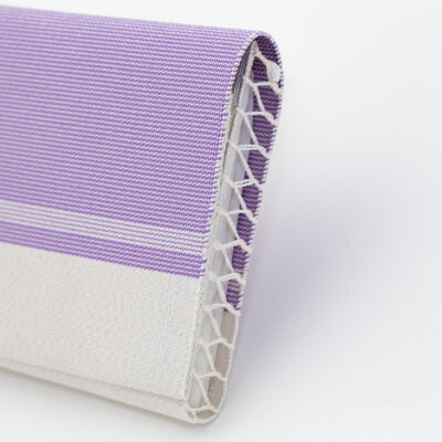 懐紙入れ茶道具日本製西陣織綴絹100%紫銀砂子S