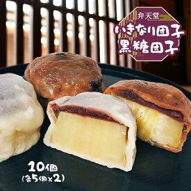 【弁天堂】いきなり団子 10個入り 熊本名物 ジャンボサイズ 10個入り 熊本土産 さつまいも 団子 お菓子 和菓子 からいも から芋