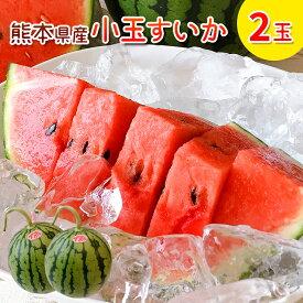 スイカ 小玉 2玉 熊本 スイカ王国 熊本県産 小玉スイカ 2玉 送料無料