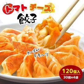 【ご家庭用】トマトチーズ餃子 120個入り 送料無料 タレなし餃子 焼餃子