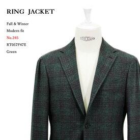 RING JACKET リングヂャケットModel No-245PIACENZA ピアツェンツァ3Bジャケット【グリーン】
