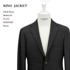 RING JACKET リングヂャケットModel No-245Vitale Barberis Canonicoヴィタル バルベリス カノニコ3Bジャケット【ブラウン】