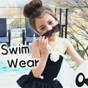 【韓国子供服】キッズ水着 女の子 子供服 セパレート ワンピース スイミング 海 子ども 3点セット 上下 チュールフリル水着 セパレート コサージュ ヘアピン タンキニ