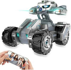 スタントカー スカウトカー ラジコンカー 対戦型カー RCスタントカー タンクおもちゃ ARモードロボットカー 重力センサーリモートRCラック 電動RCカー 充電式 無線操作 赤外線ペアリング APP