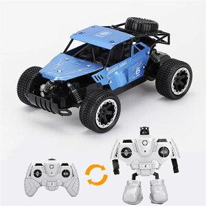 ラジコンカー RCカー電動レーシングカー オフロード 2.4Ghz無線操作 1/18高速 安定性高い 合金シェル 耐衝撃