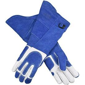 犬の革手袋抗咬傷ハンドヘルド保護手袋は、犬のトレーニングホースの安全手袋のための厚いペット手袋を長くします