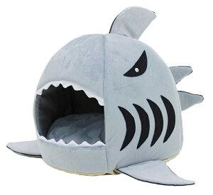 ペットハウス サメ ドーム型 犬 猫 ベッド マット 鮫ハウス サメ型 Sサイズ