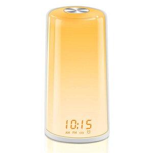 光目覚まし時計 光と音 目覚ましライト 大音量 光療法 スヌーズ機能 アラーム タッチ式操作 三段階調光 デジタル 北欧風