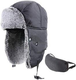 飛行帽 ロシア帽 パイロットキャップ フライトキャップ 耳あて付 防寒 帽子 トラッパーハット メンズ 冬 スキー スノボ ウシャンカ