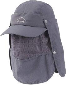 キャップ メンズ UVカット率99.9% メッシュ 帽子 防水 撥水 フェイスカバー 速乾 涼感 4way