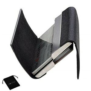ファッション両面オープンマグネット開閉ステンレスビジネスカードホルダーカードホルダー両面持ち運びに使用可能、軽量、防水、耐久性のあるビジネスカードホルダービジネスカードホ