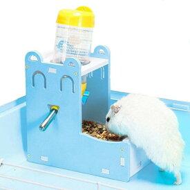 小動物 自動給餌器 80ml給水器付き 両用 ハムスター 餌入れ 水飲み 食器 ハリネズミ 給水器 自動 餌やり 水やり