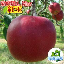 【予約】青森県産りんご≪家庭用≫紅玉4.3kg(約18〜25玉入)※10/15頃より順次出荷予定