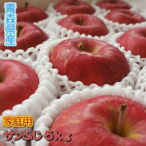 【予約商品】【おすすめギフト】糖度13度以上「サンふじ」家庭用5kgダンボール・フルーツキャップ詰(約16〜20玉入)