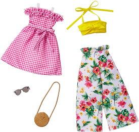 バービー 服 ドレス  (Barbie) ファッション2パック グリーン・ピンク 【着せ替え人形用ドレス アクセサリー】 GHX64