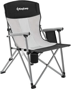 KingCamp アウトドア チェア 折りたたみ 椅子 キャンプ アームチェア 耐荷重136kg 収束型 イス コンパクト 收?袋付 アウトドア キャンプ用品