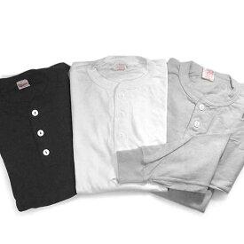 Healthknit 【ヘルスニット】 ヘンリーネック 長袖Tシャツ 906L