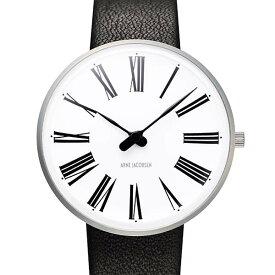 Arne Jacobsen【アルネ ヤコブセン】腕時計 Roman ローマン 34mm ウォッチ + 黒革ベルト