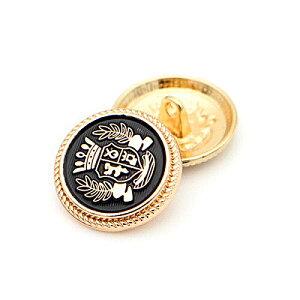 メタルボタン 15mm 20mm ゴールドボタン 金ボタン 黒ボタン ブレザーボタン スーツボタン 袖口ボタン 制服ボタン コート 手芸 裁縫 素材 材料 レザークラフト ハンドメイド