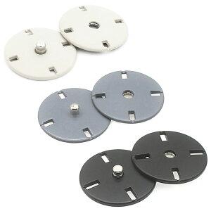 スナップボタン コートボタン ジャケットボタン 隠しボタン 手芸 裁縫 服 ハンドメイド ホワイト グレー ブラック 21mm 12.5mm