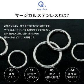 ボディピアス14G16G18G軟骨ピアスセグメントリング【
