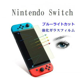 ブルーライトカット Nintendo Switch フィルム Switch ガラスフィルム ニンテンドースイッチ 保護フィルム ブルーライト 液晶保護フィルム 気泡ゼロ 3D Touch対応 スクラッチ防止 硬度9H