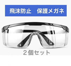 ポイント15倍 2個セット 保護メガネ ゴーグル 花粉 ウイルス 対策 飛沫防止 防塵 安全 軽量 クリア 細菌 防曇 作業 実験 眼鏡 めがね 対応 女性 男女兼用 オーバーグラス