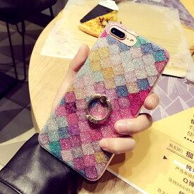 【強化ガラスフィルム付き】人魚姫をイメージ リング付き スマホケース オシャレ ラメ キラキラ iphone11 iphone11 pro iphone11 MAX iphoneXS iphoneXR iphoneXS MAX iphone8 iphone8 plusケース おすすめ かわいい 人気 リング付き iphoneケース