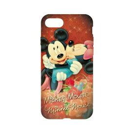 ディズニーキャラクター / キャラクターオーバーレイシリーズ iPhone8/7対応ソフトケース DN-397A / ミッキーマウス&ミニーマウス