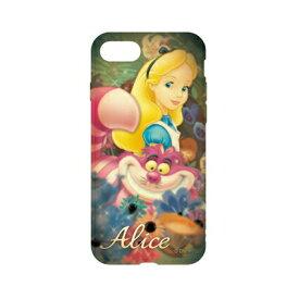 ディズニーキャラクター / キャラクターオーバーレイシリーズ iPhone8/7対応ソフトケース DN-397E / ふしぎの国のアリス