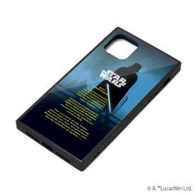 【STAR WARS】iPhone 11 対応ガラスハイブリッドケース PG-DGT19B31DV / [ダース・ベイダー]