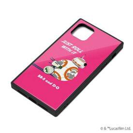 【STAR WARS】iPhone 11 対応ガラスハイブリッドケース PG-DGT19B33BB / [BB-8]