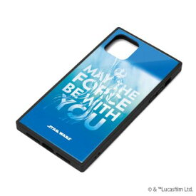 【STAR WARS】iPhone 11 対応ガラスハイブリッドケース PG-DGT19B35SW / [ブルー]