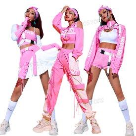 韓国 ダンス衣装 大人 セットアップ ヒップホップ ダンス衣装 レディース ダンス 衣装 上下 へそ出し 派手 ダンスウェア JAZZ おしゃれ パンツ スカート 演出服 練習着 送料無料