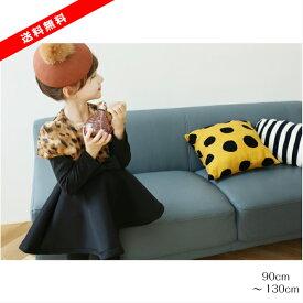 韓国子供服 SHUSHURABBIT) チョコムースワンピース (ブラック)サイズ:5-7-9-11-13号(90cm〜130cm)